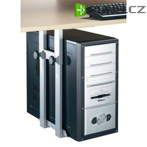Držák PC pod stůl, nosnost 15 kg, stříbrnošedá