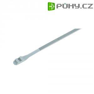 Stahovací pásky s dvojitou pojistkou KSS DL132, 132 x 9 mm, 100 ks, přírodní