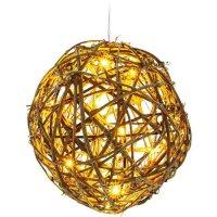 Vánoční osvětlení koule ratan LED WW RXL 157 RETLUX