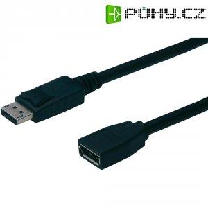 Kabel DisplayPort vidlice ⇔ zásuvka, 2 m, černý