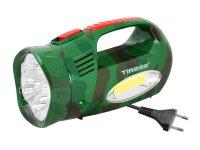 Svítilna montážní TIROSS TS-760-3, 13 LED+COB nabíjecí zelená