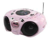 Rádio/CD přehrávač KONIG růžový dětský (HAV-PRCD15)