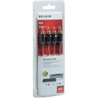 Připojovací kabel Belkin, cinch zástr./cinch zástr., černý, 1 m