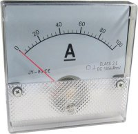 JY-80 panelový MP 100A= (50mV) 80x80mm bez bočníku