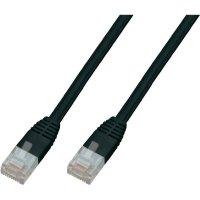 Plochý patch kabel CAT 5e U/UTP RJ 45, vidlice ⇔ vidlice, 5 m, černý