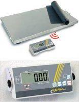 Plošinová váha Kern max. váživost 300 kg rozlišení 100 g 230 V, na baterii stříbrná