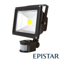 LED reflektor venkovní s PIR 20W/1600lm EPISTAR, MCOB, AC 230V, černý
