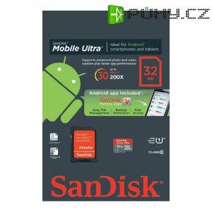 Pamětová karta microSDHC SanDisk 32 GB Android, Class 1 SD adaptér