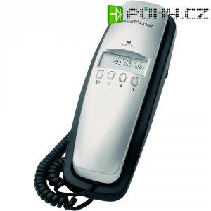 Stolní telefon Audioline TEL 5 Clip, černá/stříbrná