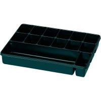 Plastová krabička na malé součástky 815353, přihrádek: 14, 335 x 235 x 50 , černá