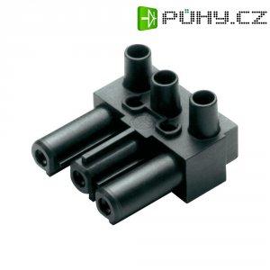 Úhlová síťová zásuvka Adels Contact AC 166 GBU/3, 250 V, 16 A, černá, 165063