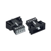 Síťová zásuvka Wago Winsta Mini, 250 V, 16 A, 5pólová, černá, 890-705