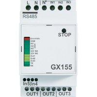 GSM modul na DIN lištu GX155, 409591, spínací/měřicí/poplachový