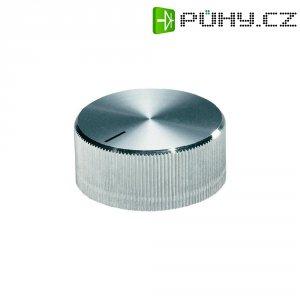 Otočný knoflík se zajišťovacím šroubem OKW, 6 mm, stříbrná