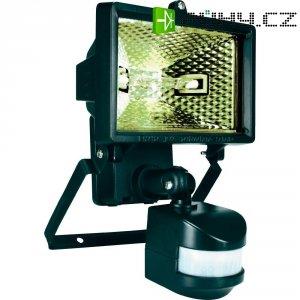 Halogenový reflektor s detektorem pohybu, R7s, 120 W, IP44, černá