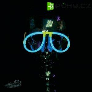 Neonová světelná tyčinka, tvarbrýle, modrá