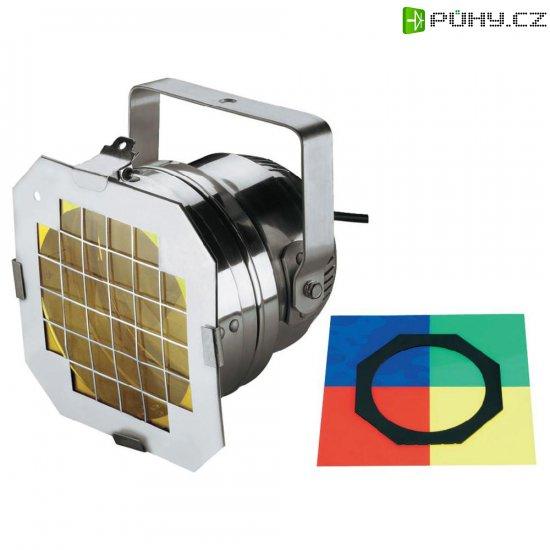 Halogenový reflektor Eurolite PAR 56 Short, 42000826, 300 W, bílá + 4 ks barevných filtrů - Kliknutím na obrázek zavřete