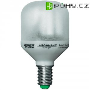 Úsporná žárovka kulatá Megaman Classic Soft-Light E14, 9 W, teplá bílá