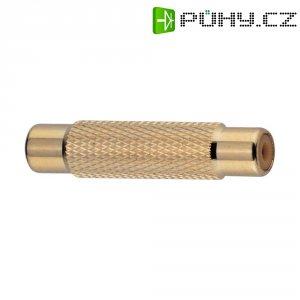 Cinch adaptér, spojka/spojka BKL Electronic, pozlacená
