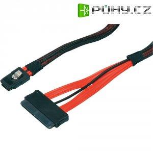Kabel pro HDD 1x mini SAS (SFF-8087) ⇒ 1x SAS (SFF-8484), 0,5 m