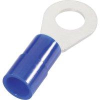 Kulaté kabelové oko Cimco 180086 180086, průřez 16 mm², průměr otvoru 10.5 mm, částečná izolace, modrá, 1 ks