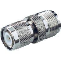 Adaptér TNC zásuvka / UHF zásuvka BKL Electronic 405086, 50 Ω, TNC adaptér, Delrin, rovný