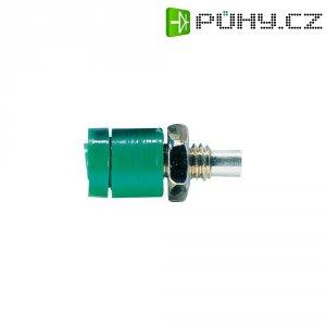 Labor. konektor Ø 2 mm Schnepp BU 2400, zásuvka vest. vert., zelená