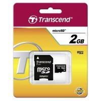 Paměťová karta microSD Transcend, třída 2, 2 GB