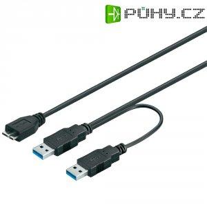 USB 3.0 kabel Goobay 95747, 0.6 m, černá