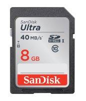 Karta paměťová SANDISK SDHC 8GB Class 10