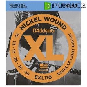 Kovové struny na elektrickou kytaru D´Addario EXL 110 Regular Light, 010 - 046