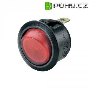 Kolébkový spínač, 20 AR13-208B -02 GN LED 12VDC