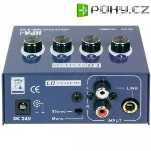 Čtyřkanálový sluchátkový předzesilovač LD Systems HPA4