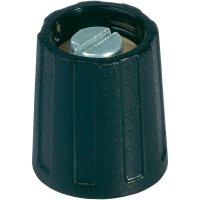 Otočný knoflík bez ukazatele OKW, Ø 20 mm, 6 mm, černá
