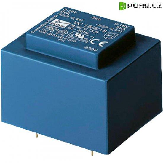 Transformátor do DPS Block EI 48/16,8, 230 V/2x 6 V, 2 x 833 mA, 10 VA - Kliknutím na obrázek zavřete