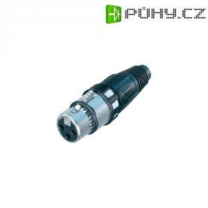 XLR kabelová zásuvka Neutrik NC3FXCC, rovná, 3pól., 5.4 - 6.2 mm, stříbrná