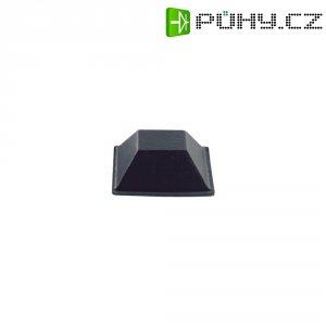 Samolepicí přístrojové nožičky, obdélníkové, polyuretan, 20,6 mm x 7,6 mm, 7 ks, černá
