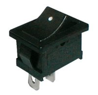 Přepínač kolébkový 2pol./2pin ON-OFF 250V/6A černý