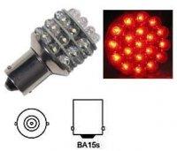 Žárovka LED-36x Ba15S 12V červená