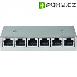 6 portů síťový patchkabel Setec 649108 CAT 5e 1 U