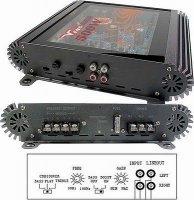 Autozesilovač ARV2075 2x75RMS/4ohm. Prasklý kryt.
