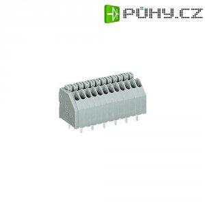 Pájecí svorkovnice série 250 WAGO 250-402, AWG 24-20, 0,4 - 0,8 mm², 2 , 2,5 mm, 2 A, šedá