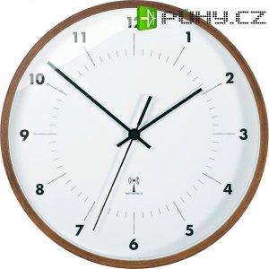 Analogové DCF nástěnné hodiny TFA 98.1097, Ø 25,5 x 5 cm, dřevo