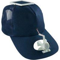 Solární čepice s ventilátorkem, modrá