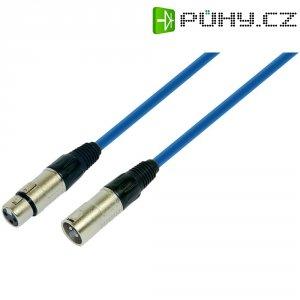 Profi patchkabel XLR (M) / XLR (F), 1 m, modrá