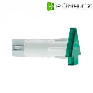 Signálka RAFI, 28 V, zelená (transparentní), 10 mm, tvar šipky