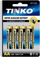 Baterie TINKO 1,5V AA(LR6) alkalická, balení 4ks v blistru