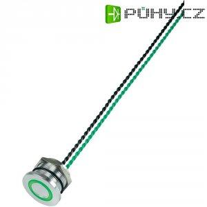 Piezo tlačítko, 24 V DC/AC, 0,2 A, IP 68, PS223P10Y01G24T, zelená LED, ploché