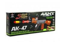 Pistole dětská TEDDIES ARMY AK-47 pěnové náboje