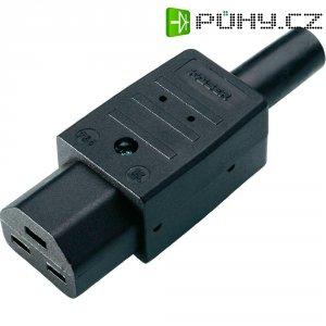 Síťová IEC zásuvka C21 Kaiser, 250 V, 16 A, černá, 764/sw/C